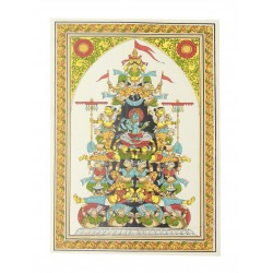 Pattachitra Art Krishna With Gopikas Painting On Silk