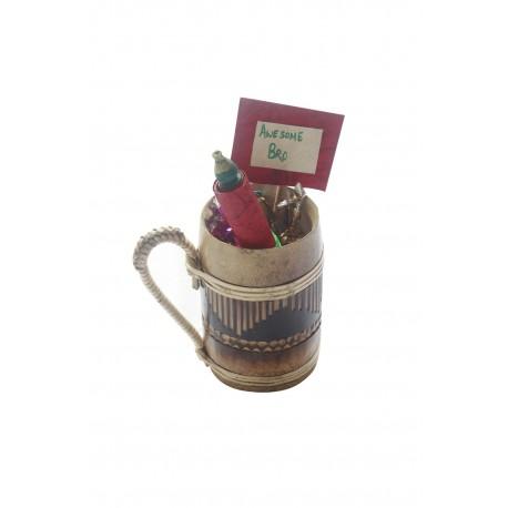Bamboo Beer Mug With Chocloates and Scroll