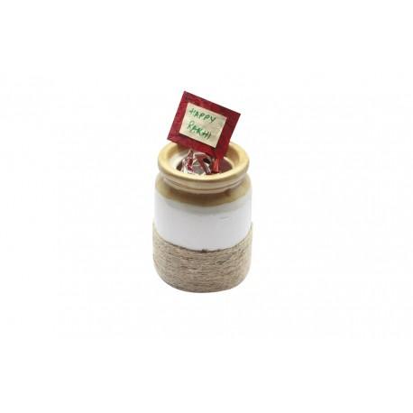 Ethnic Ceramic Cookie Jar Barni Rakhi Gift