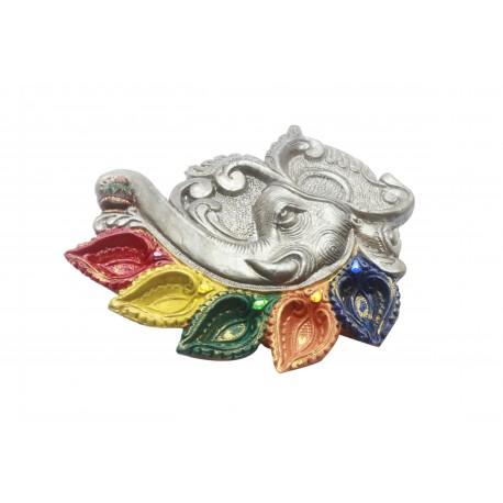 Hand Painted Clay/ Terracotta Elephant Shape Diwali Diya Unique Diyas
