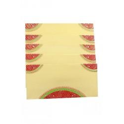 Traditional Rajasthani Bandini Design Money Envelope Gift Cover Set of Five