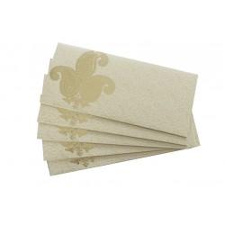 Elegant Rich Gold Leaf Print Money Envelope Shagun Gift Cover Set of Five