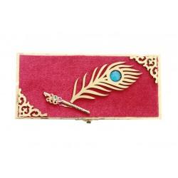Elegant Peacock Feather Design Money Box, Gift Box