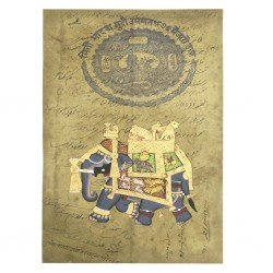 Elephant Safari Stamp Paper Painting