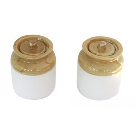 "Set Of Two Traditional Ceramic Barni Jar 7"""