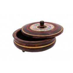 Handcrafted Wooden Dhokra Warli Art Square Multipurpose Box