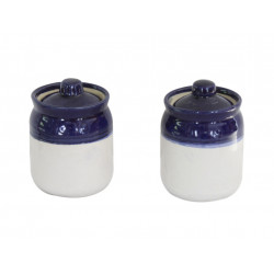 Set of Two Ceramic Barni Blue Colour 4""