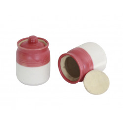 Set of Two Ceramic Barni Pink Colour 4""