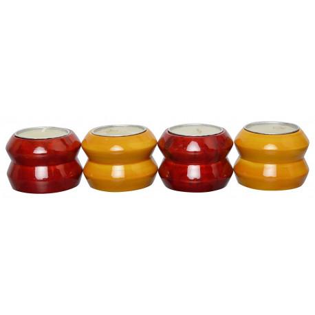 Set of Four Handcrafted Tea Light Holders Diya Channapatna crafts