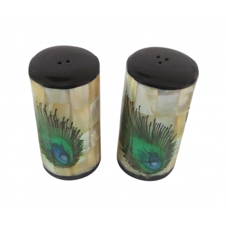Mother Of Pearl Inlay Salt and Pepper Shaker