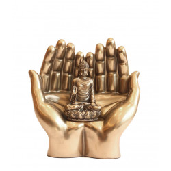 Porcelain Double Palm Buddha Showpiece