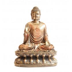Porcelain Meditating Buddha Idol Figurine