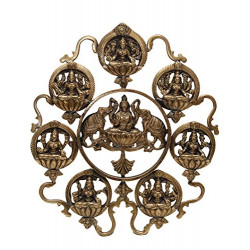 Brass Ashta Lakshmi Wall Hanging Wall Panel