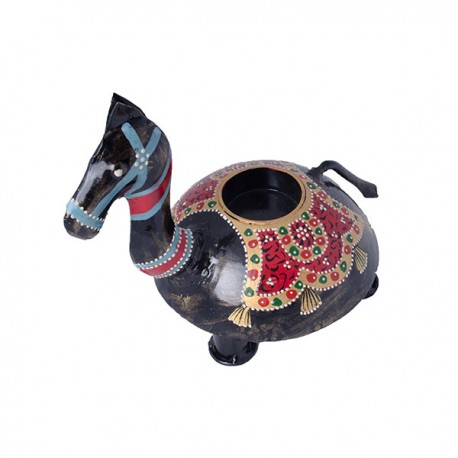 Horse shaped candle stand tealight holder