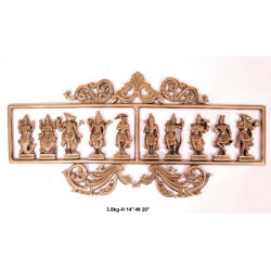 Brass Dashavatar Wall Hanging