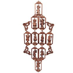 Brass Dashavtar Dashavataar Wall Hanging Wall Decor