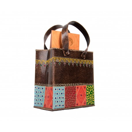 Painted Big Bag Shape Utility Magazine Holder