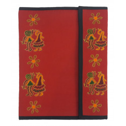 Handmade Colourful Embroidery Paper File Folder