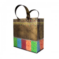 Painted Small Bag Shape Utility Magazine Holder