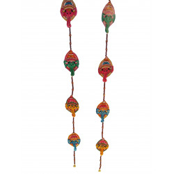 The Ethnic Story Leather Puppetry Ganesha Door Hanging (Pair)
