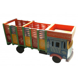Miniature Wooden Indian Lorry/ Truck Showpiece Home Decorative 22""