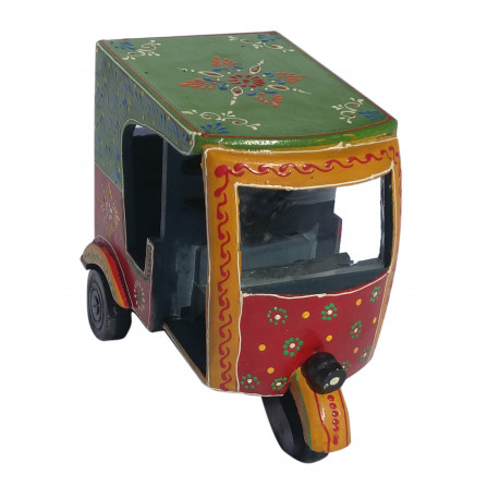 Handcrafted Wooden Indian Auto Rickshaw Miniature Showpiece Home Decorative/ Indian Souvenir