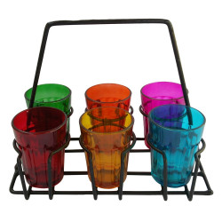 Tapri Style Cutting Chai Glass Set Of Six
