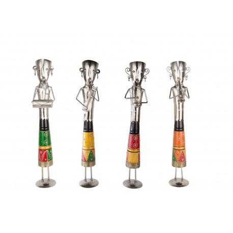 Set of Four Standing Musician Showpiece