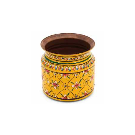 Handpainted Ethnic Copper Kalash Lota