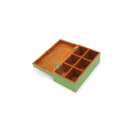 Handpainted Wooden Tea Box Gift Box