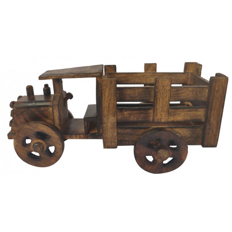 Handcrafted Wooden Truck Lorry/Wooden Truck Table Deco