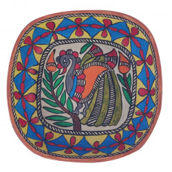 Paper Mache Madhubani Art Decorative Bowl