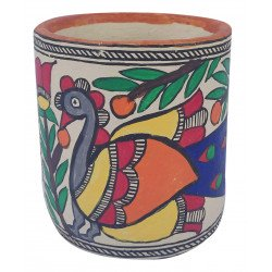 Paper Mache Madhubani Art Decorative Tissue Napkin Holder/ Cutlery Holder
