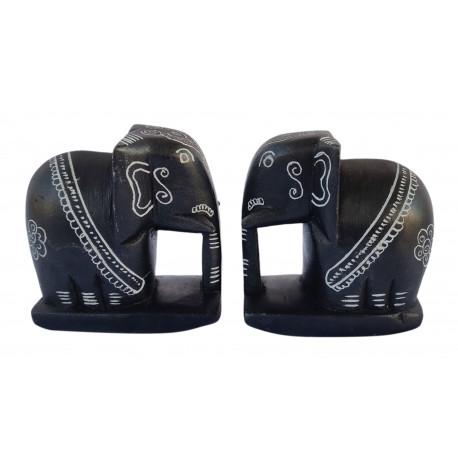 Black Stone Hand Crafted Elephant Handicraft Karnataka Stone Carving Belur Elephant