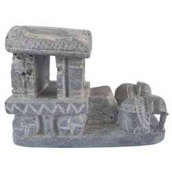 Handcrafted Stone Hampi Chariot Miniature Souvenir Showpiece