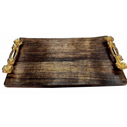 Flat Wooden Reactangular Serving Platter/Wooden Snacks Serving Platter