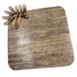 Wooden Square Pizza Tray/Wooden Pizza Platter/Square Serveware