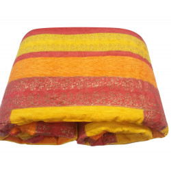 Colourful Jaipuri Gold Print Cotton Razai Quilt for Single Bed Premium Quilt