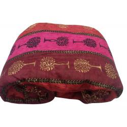 Colourful Jaipuri Gold Print Cotton Razai Quilt for Single Bed Premium Quilt