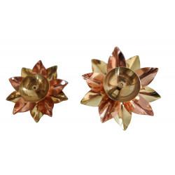 Brass/ Copper Lotus Shaped Diya Akhand Diya Pack Of 2