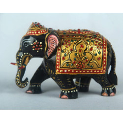 Handcrafted Wooden Painted Elephant Home Decor Rajasthani Souvenir Gift