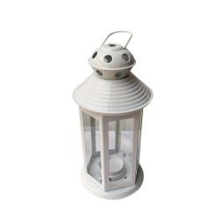 Decorative Painted Metal Lantern Shape Outdoor/ Indoor Hanging Tealight Candle Holder