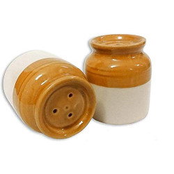 Traditional Ceramic Barni Style Salt and Pepper Shaker Set (70 Ml) Ceramic Barni Salt and Pepper Shaker