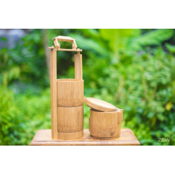 Sustainable Handcrafted Bamboo Tiffin Box