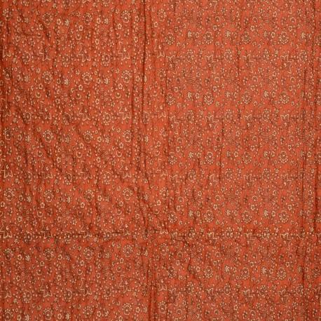 Rajasthani Gold Print Orange Double Razai