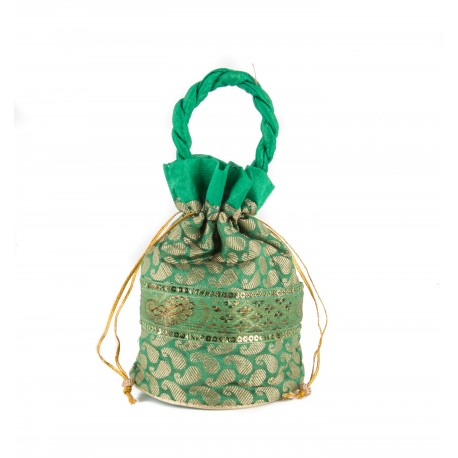 Green Potli Bag