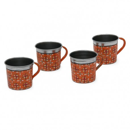 KAUSHALAM HAND PAINTED TEA CUPS SET OF 4