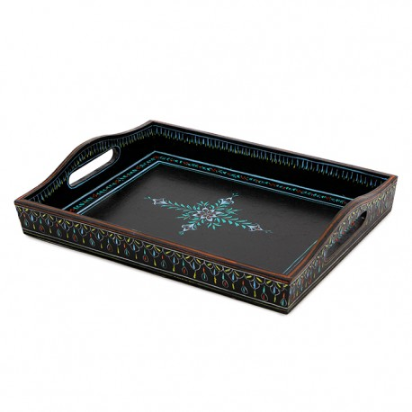 KAUSHALAM LARGE TRAY: BLACK