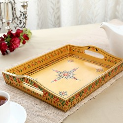 KAUSHALAM LARGE TRAY: GOLDEN