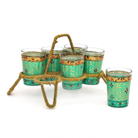 Kaushalam Tea Kettle with six glasses and stand: Eye Charmer